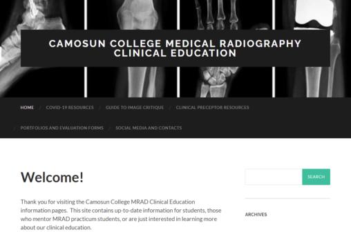 Medical Radiography site screenshot